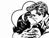 Kissing Couple Coloring Colorear Coloringcrew sketch template