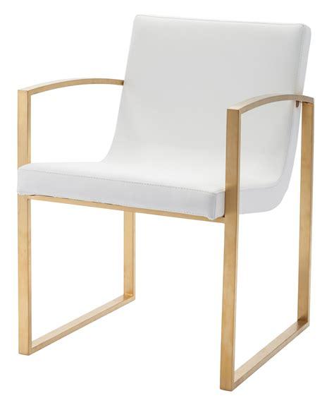 clara white gold naugahyde dining chair hgtb324 nuevo