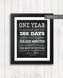 chalkboard style first anniversary gift for husband for wife With first year wedding anniversary gifts for her