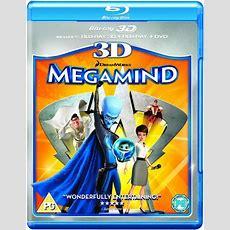 Megamind 3d (3d Bluray, 2d Bluray And Dvd) Bluray Zavvicom