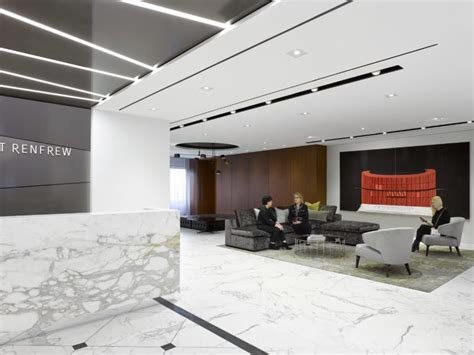 Inside Holt Renfrew's Stylish New Office Space On Bloor, With Marble Flooring, Mobile Furniture