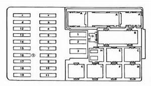 Mercedes E Class W123 - 300d  1987  - Fuse Box Diagram