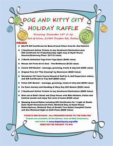 christmas raffle poster templates - hsdc holiday raffle 2014 humane society of dallas county