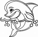 Dolphin Coloring Wecoloringpage Sheets Animal sketch template