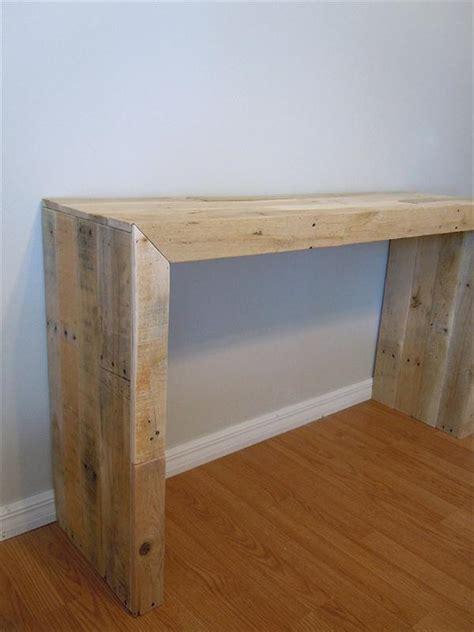 diy pallet console table pallet furniture plans