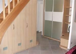 portes coulissantes sous pente 12 elegance rangement With porte de placard sous escalier