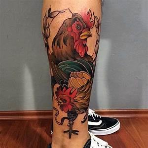 100 Rooster Tattoo Designs For Men - Break Of Dawn Ink
