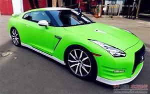 Lime Green Nissan GT R 2009gtr