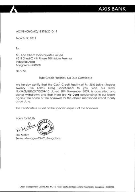kon chem india  due certificate