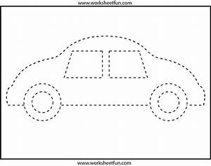 Picture Tracing – Car- 1 Worksheet / FREE Printable ...  Tracing