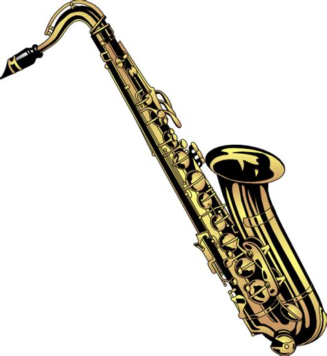 Saxophone Clipart Saxophone 6 Clip At Clker Vector Clip