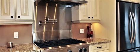 Stainless Steel Range Backsplash : Stainless Steel Kitchen Backsplash Panels
