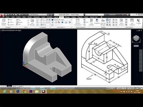 autocad mechanical modeling tutorials visit sabeercad com for tutorial files and more isometric