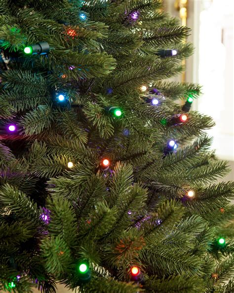 colored tree lights lumenplay color changing 6 mm lights balsam hill