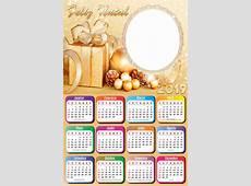 Calendário 2019 Feliz Natal Dourado Imagem Legal