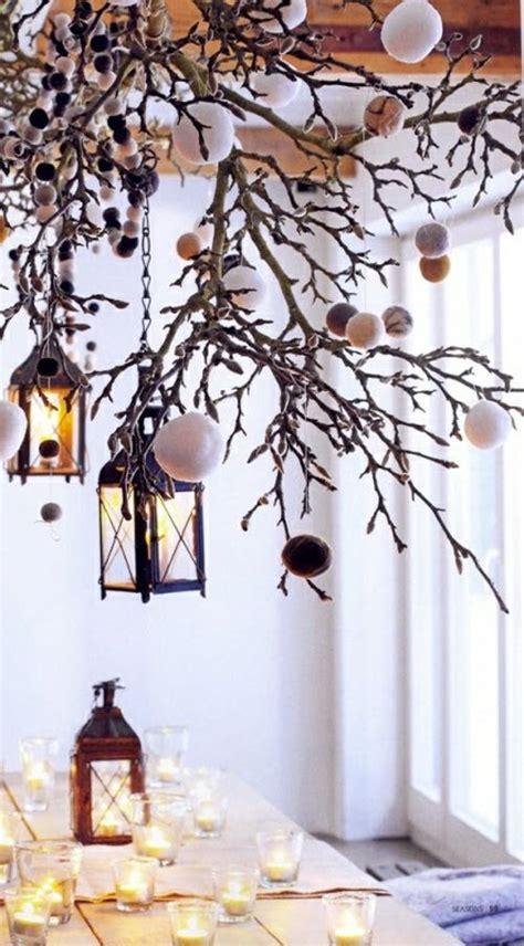 Fensterdeko Weihnachten Zweige by 25 Selbstgemachte Kronleuchter Aus Zweigen 228 Ste Deko