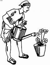 Gardener Drawing Gardening Sketch Coloring Pruners Pages Template Getdrawings sketch template