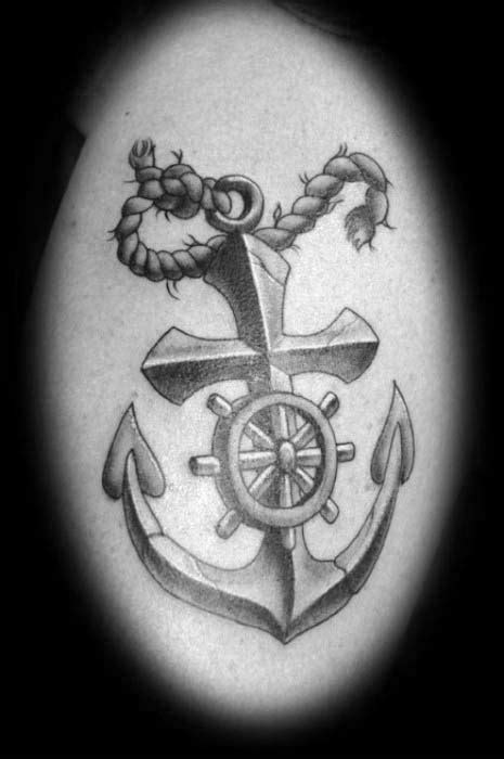 40 Anchor Cross Tattoo Designs For Men - Religious Ink Ideas