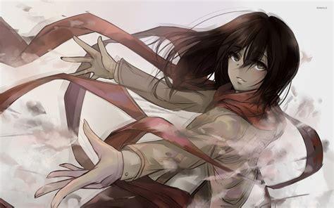 mikasa ackerman shingeki  kyojin wallpaper anime