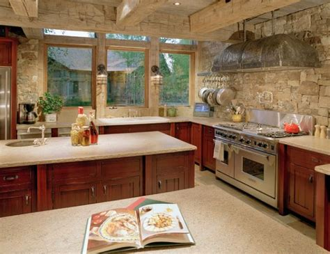 Add Some Rustic Charm To Your Kitchen With Stone Walls