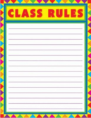 classroom rules template class rules blank chart by smileyme
