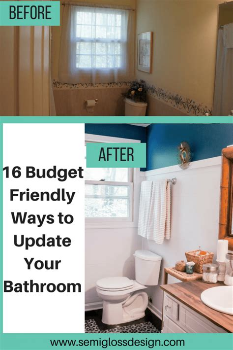 ways  update  bathroom   budget semigloss design