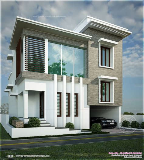 modern contemporary floor l square feet contemporary modern home kerala home design