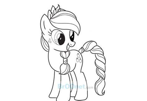 mewarnai kuda poni orang gambar mewarnai my pony