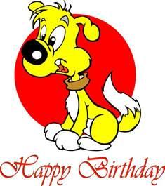 Happy Birthday Puppy Clip Art
