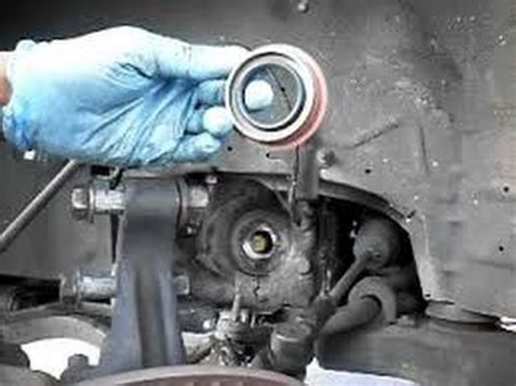 replace transmission outputaxle shaft seal gm thm