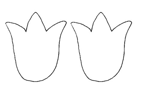 tulip template 7 best images of tulip pattern printable tulip template printable tulip flower template
