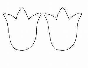 tulip outline clipart - Clipground