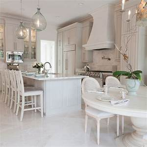 elegant french kitchens design ideas With kitchen colors with white cabinets with large chandelier wall art