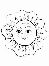 Sun Coloring Pages Printable Recommended Bright Mycoloring sketch template