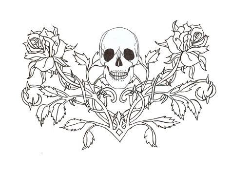 Gothic Skull Tattoo Wallpaper