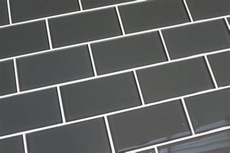 ash 3x6 glass subway tiles rocky point tile online