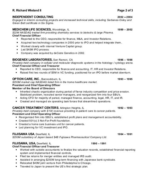 Investor Relations Specialist Resume by Executive Sle Resume Executive Resume Sles Executive 59 Executive Resume Templates Free