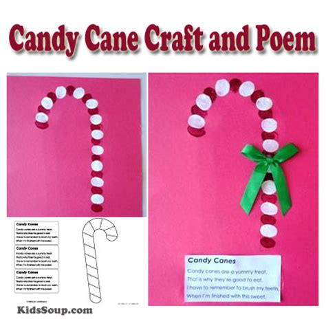 craft and poem kidssoup 245 | CandyCane craft rhyme KS