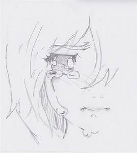 How To Draw A Sad Anime Girl Crying - Drawing Artistic