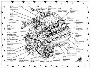 2002 Lincoln Ls V8 Enginepartment Diagram
