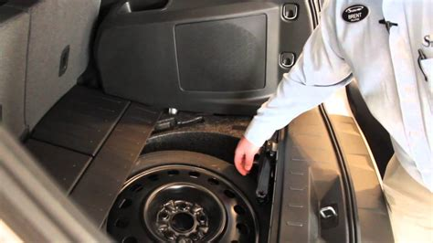 removing  spare tire   chevy equinox youtube
