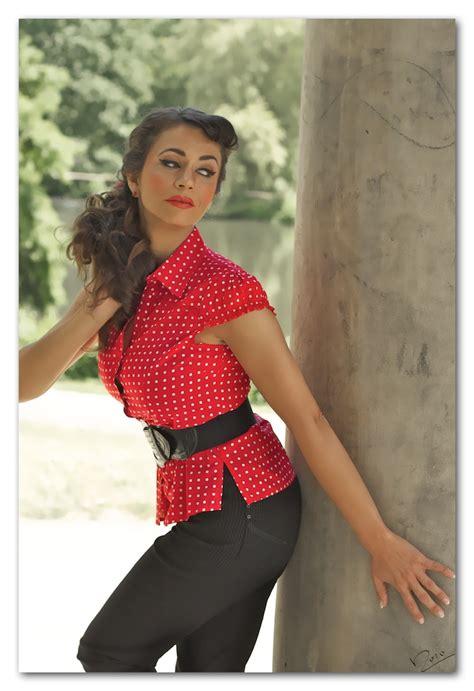 50er Jahre by 50er Jahre Pin Up Foto Bild Fashion Outdoor Frauen