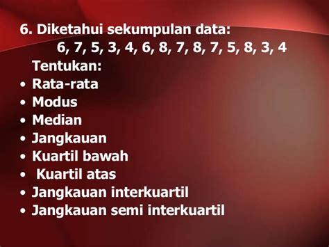 Latihan Soal Statistika