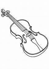 Violine Geige Coloring Violin Colouring Fiddle Ausmalbilder Ausmalbild Template sketch template