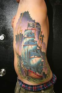 Pirate Ship Tattoo Images  U0026 Designs