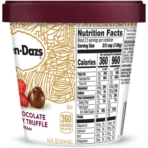 Milk chocolate and vegetable oil coating with almonds and toffee: 34 Haagen Dazs Nutrition Label - Labels For Your Ideas