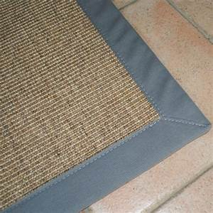 Tapis en sisal ganse personnalisable couleur naturel for Tapis sisal gansé