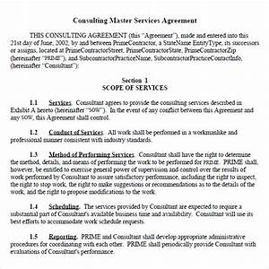 9 sample master service agreements sample templates With consulting terms and conditions template