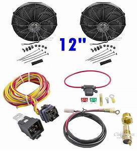 Fan  U0026 Relay Kit Dual12  U0026quot  Electric Champion Cooling Systems