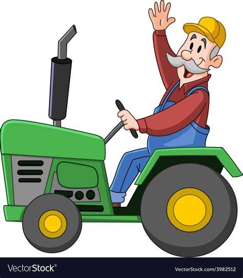 Farmer driving tractor vector image on | Imagens infantis ...